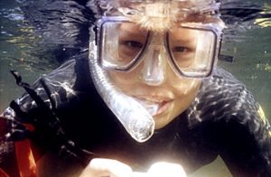 A diving mask